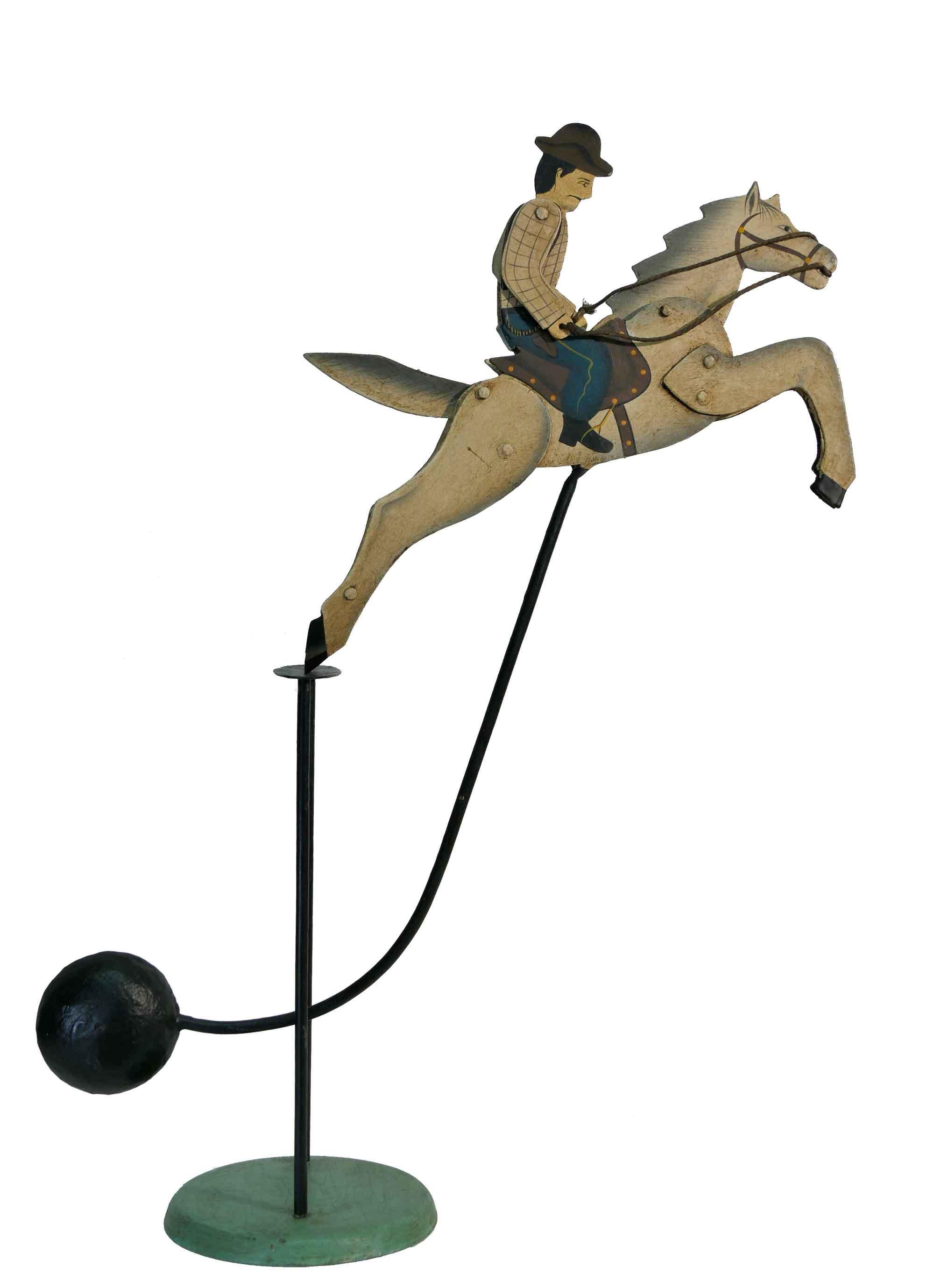 Balance Figur Cowboy mit Pferd