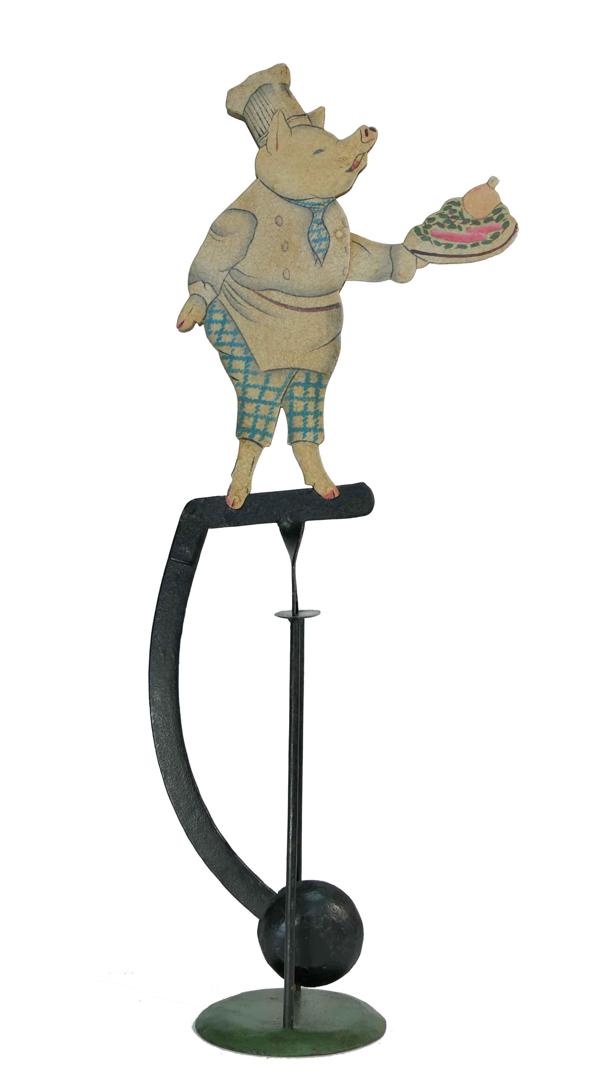 Balance Figur Das kochende Schwein