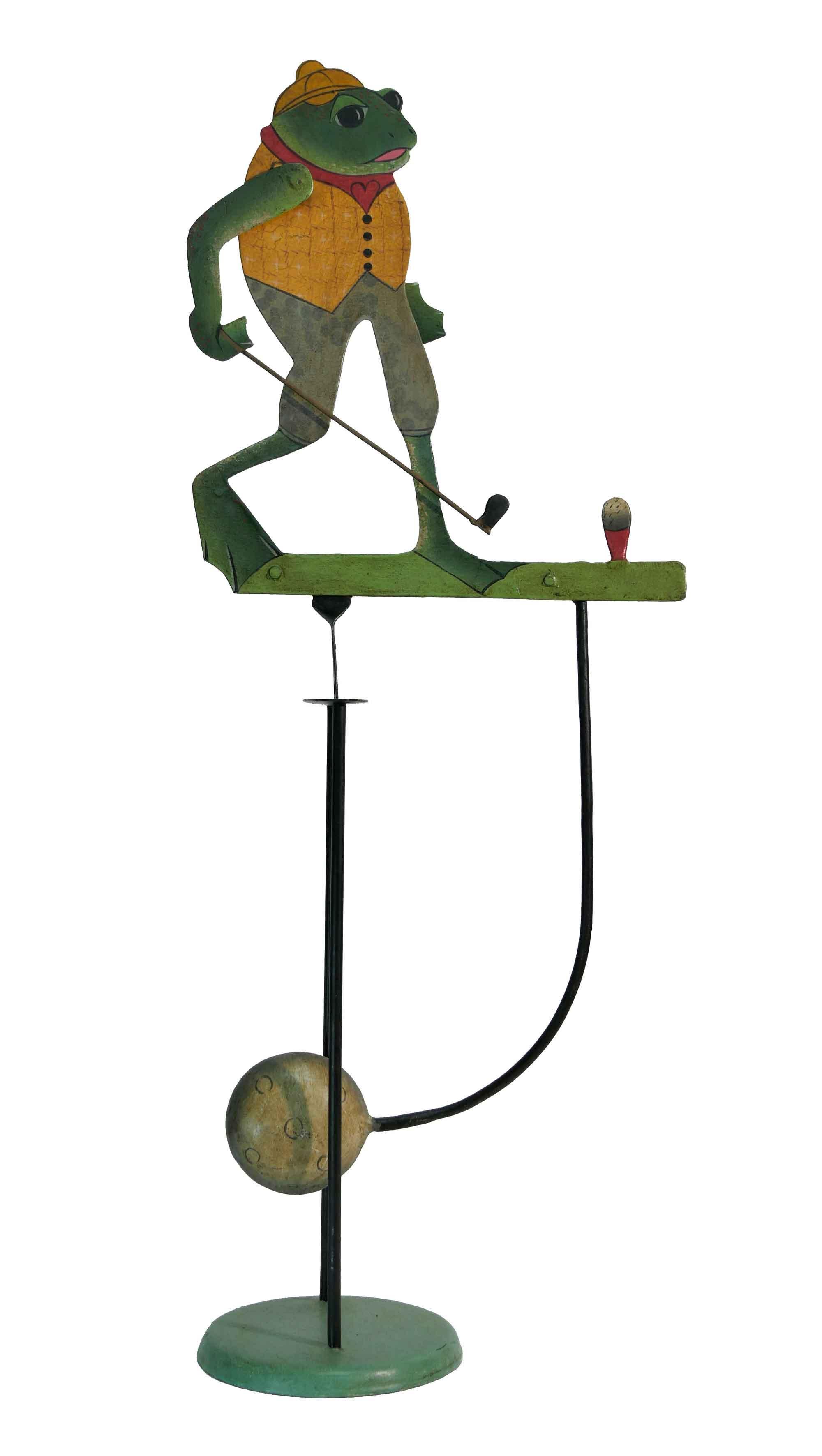 Balance Figur Der golfende Frosch