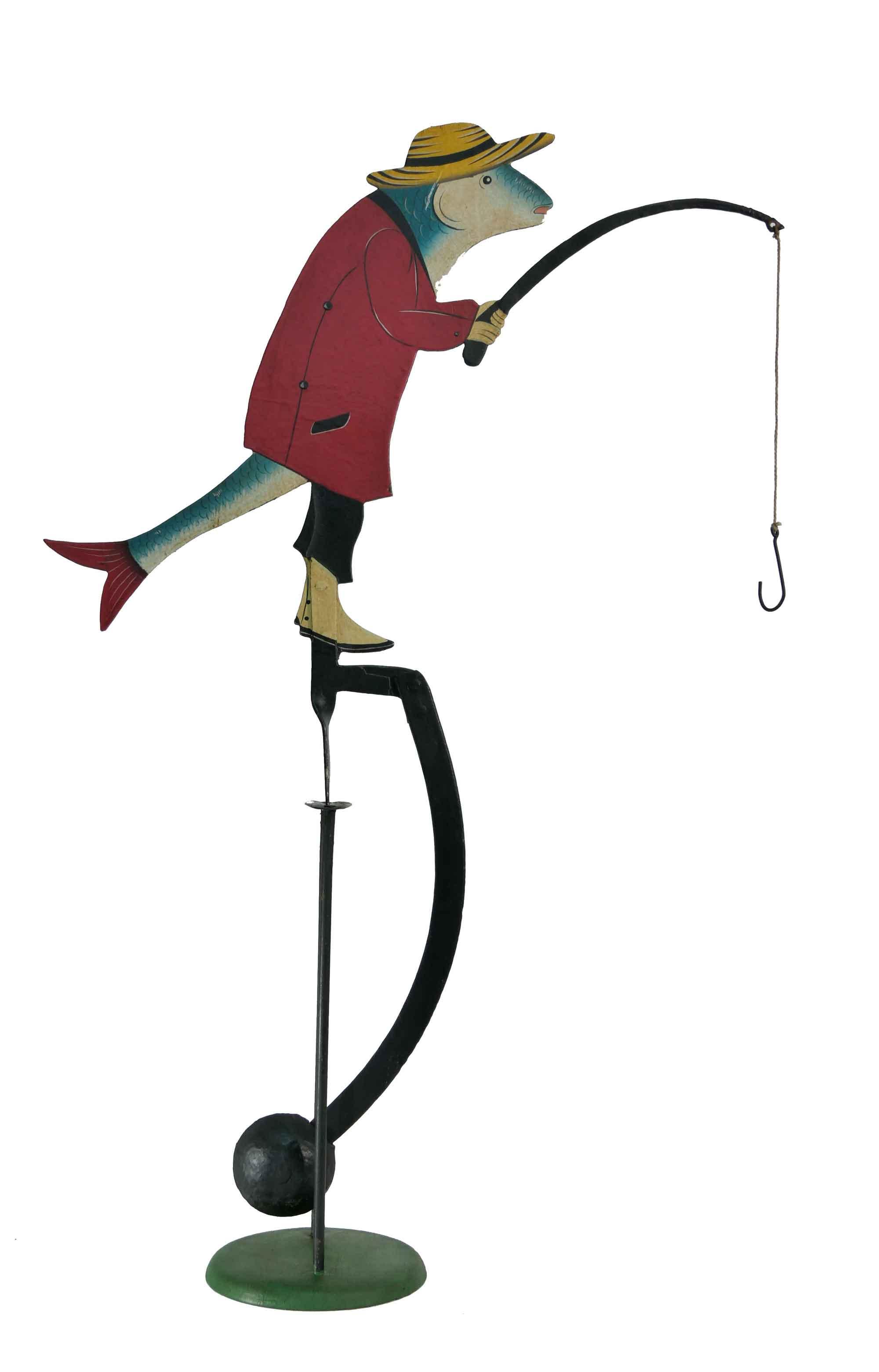 Balance Figur Fisch mit Angelrute