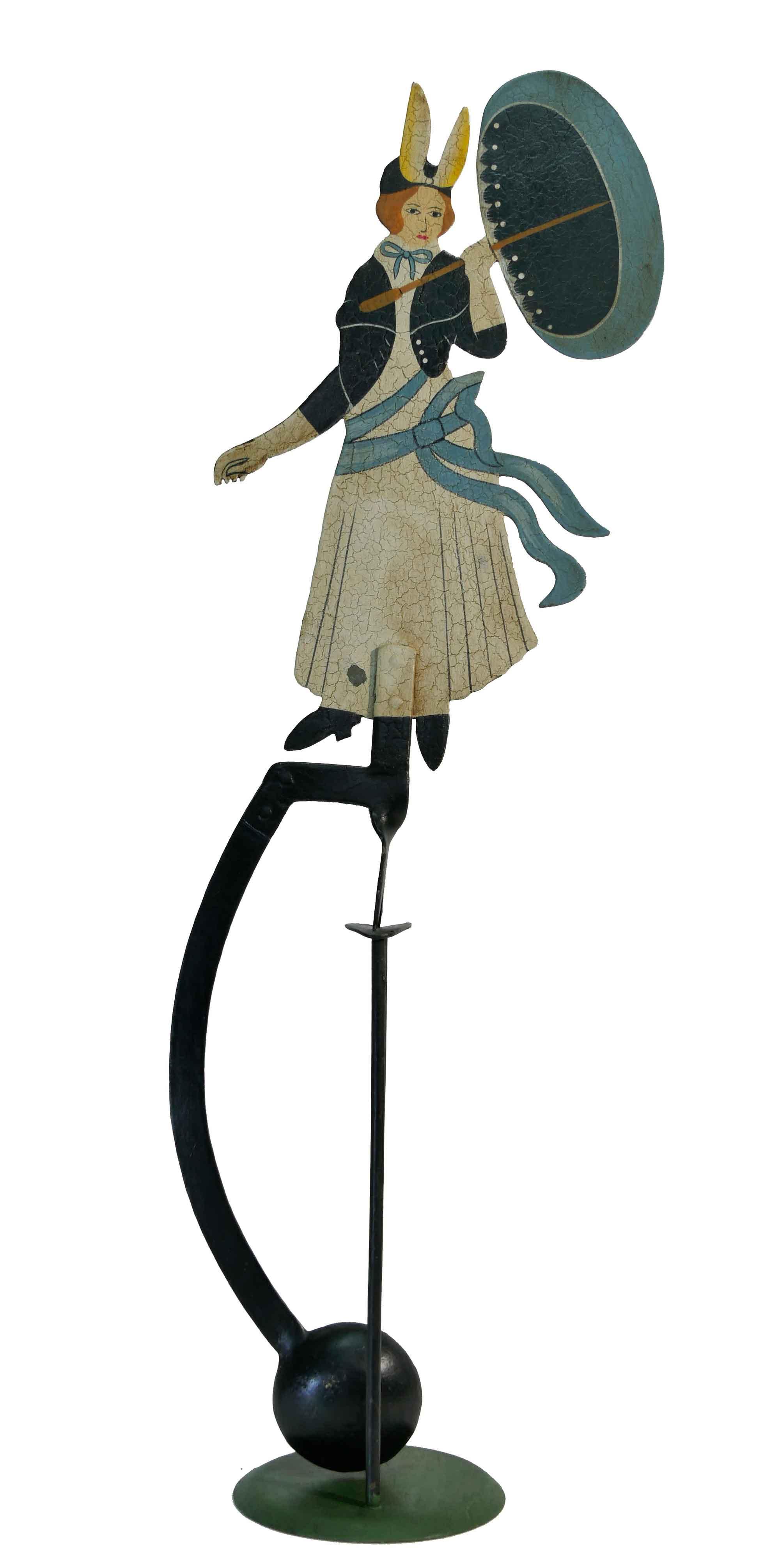 Balance Figur Frau mit Schirm