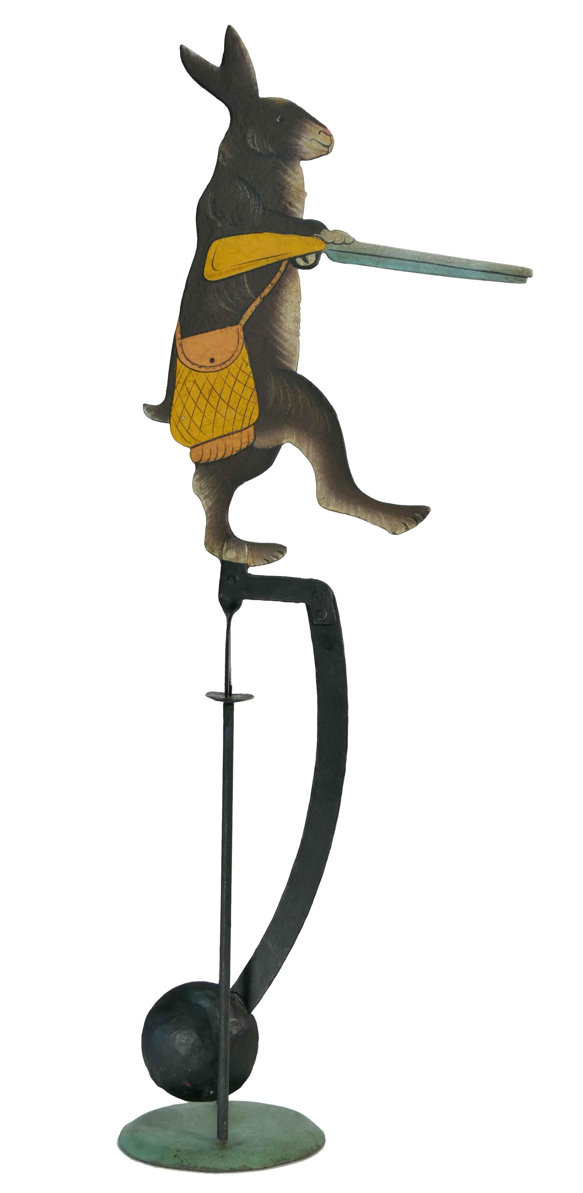 Balance Figur Hase mit Gewehr