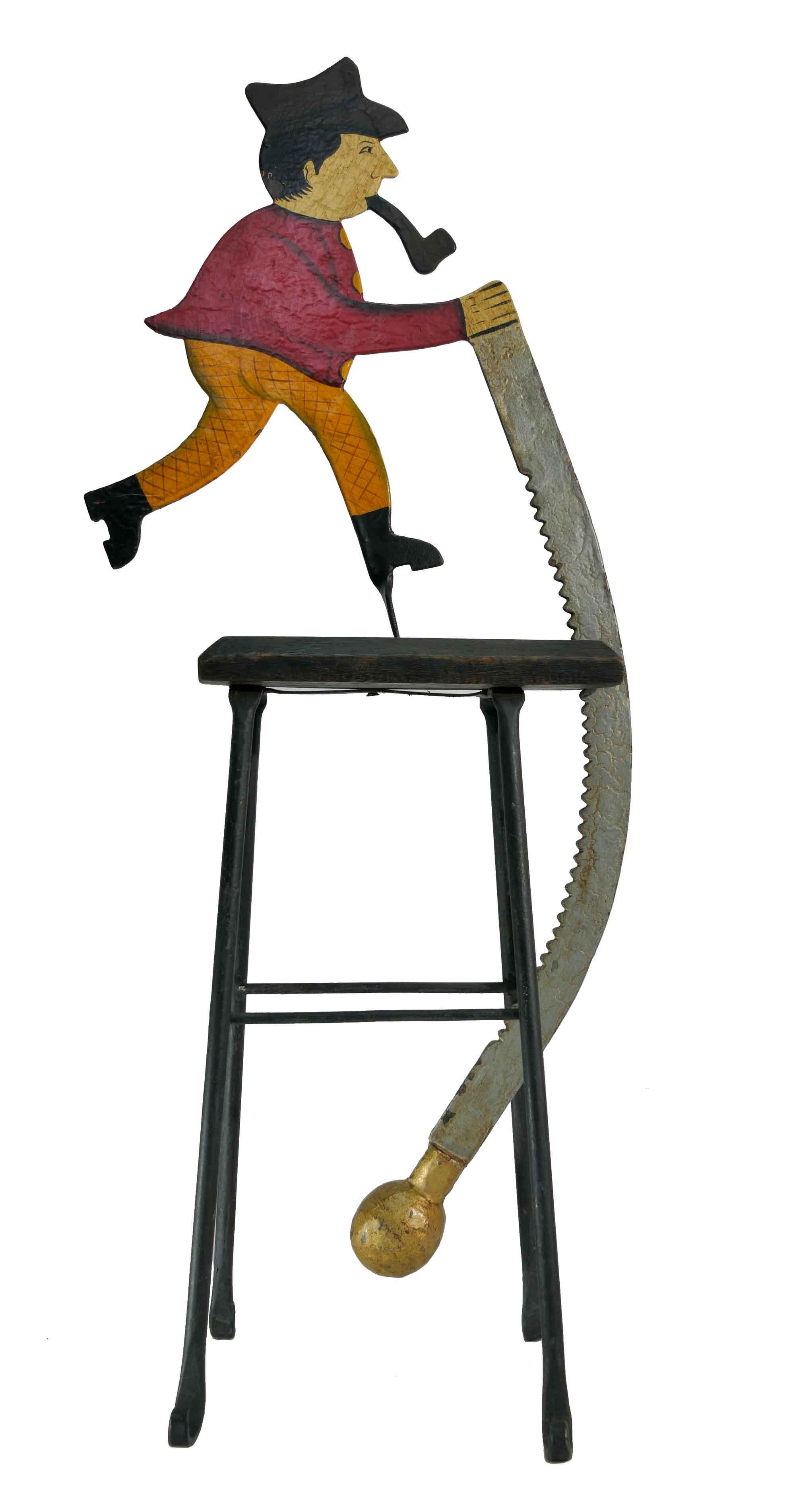 Pendelfigur Holzfäller mit Pfeife