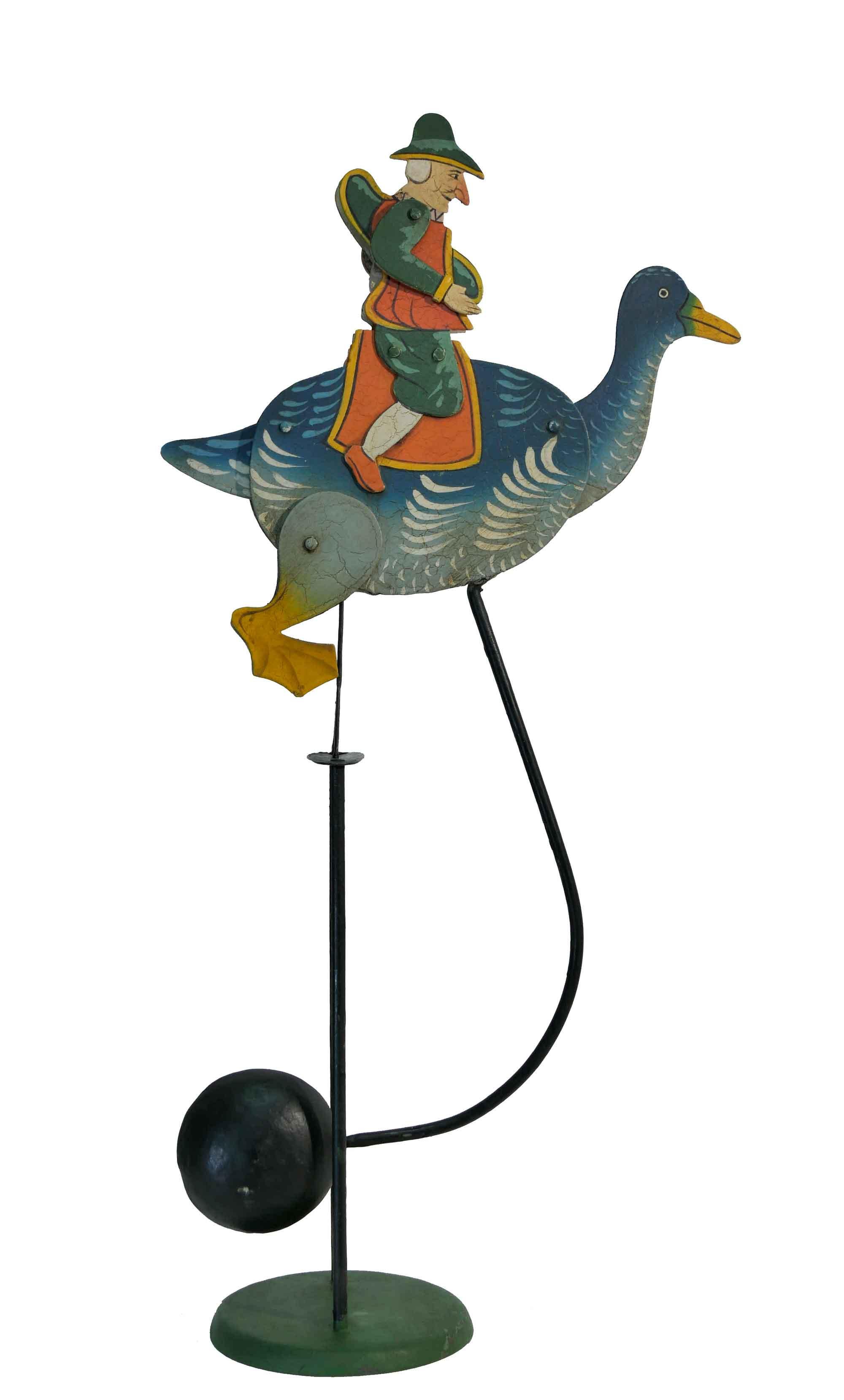 Balance Figur Kobold auf Gans