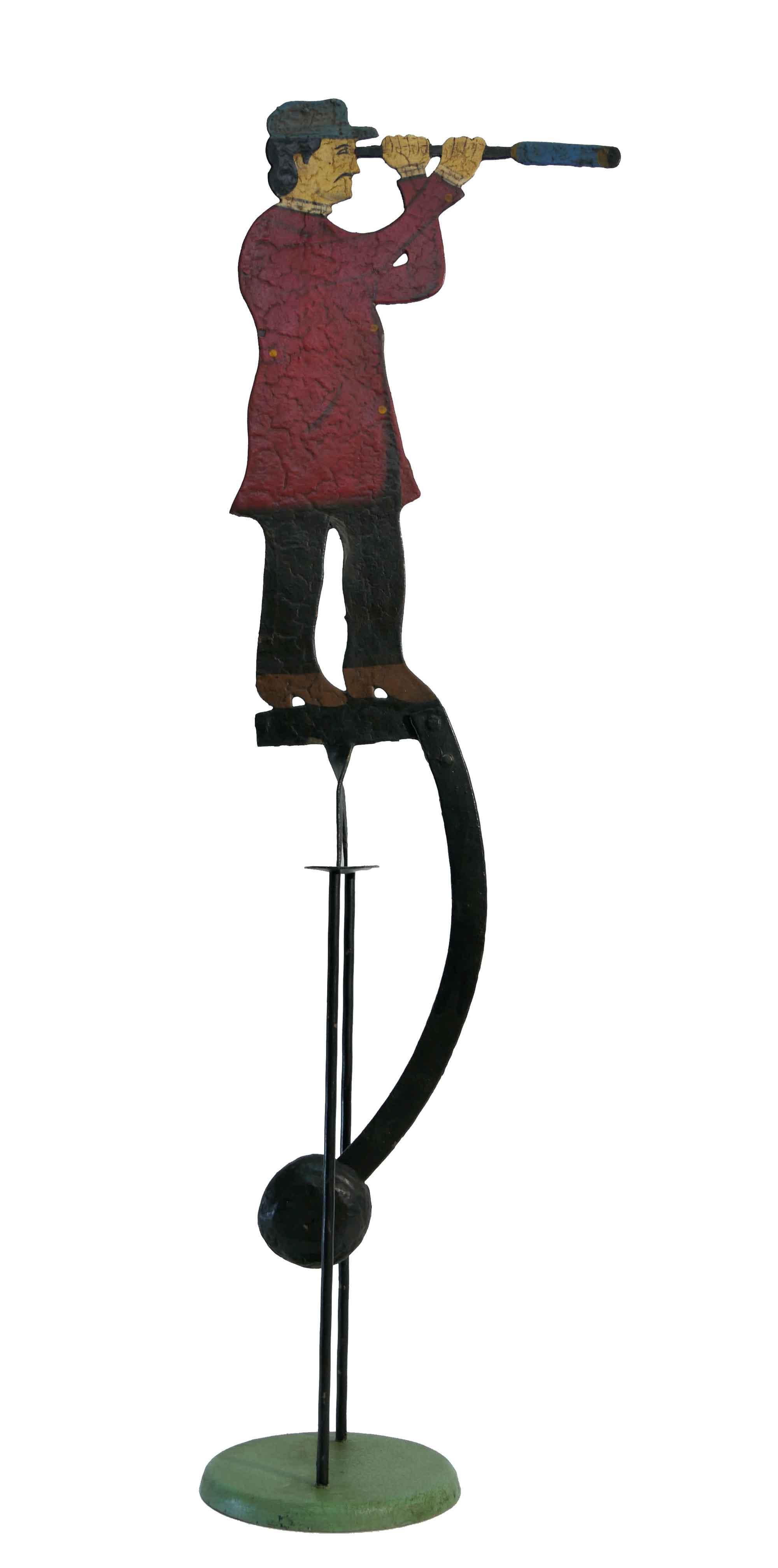 Balance Figur Mann mit Fernrohr