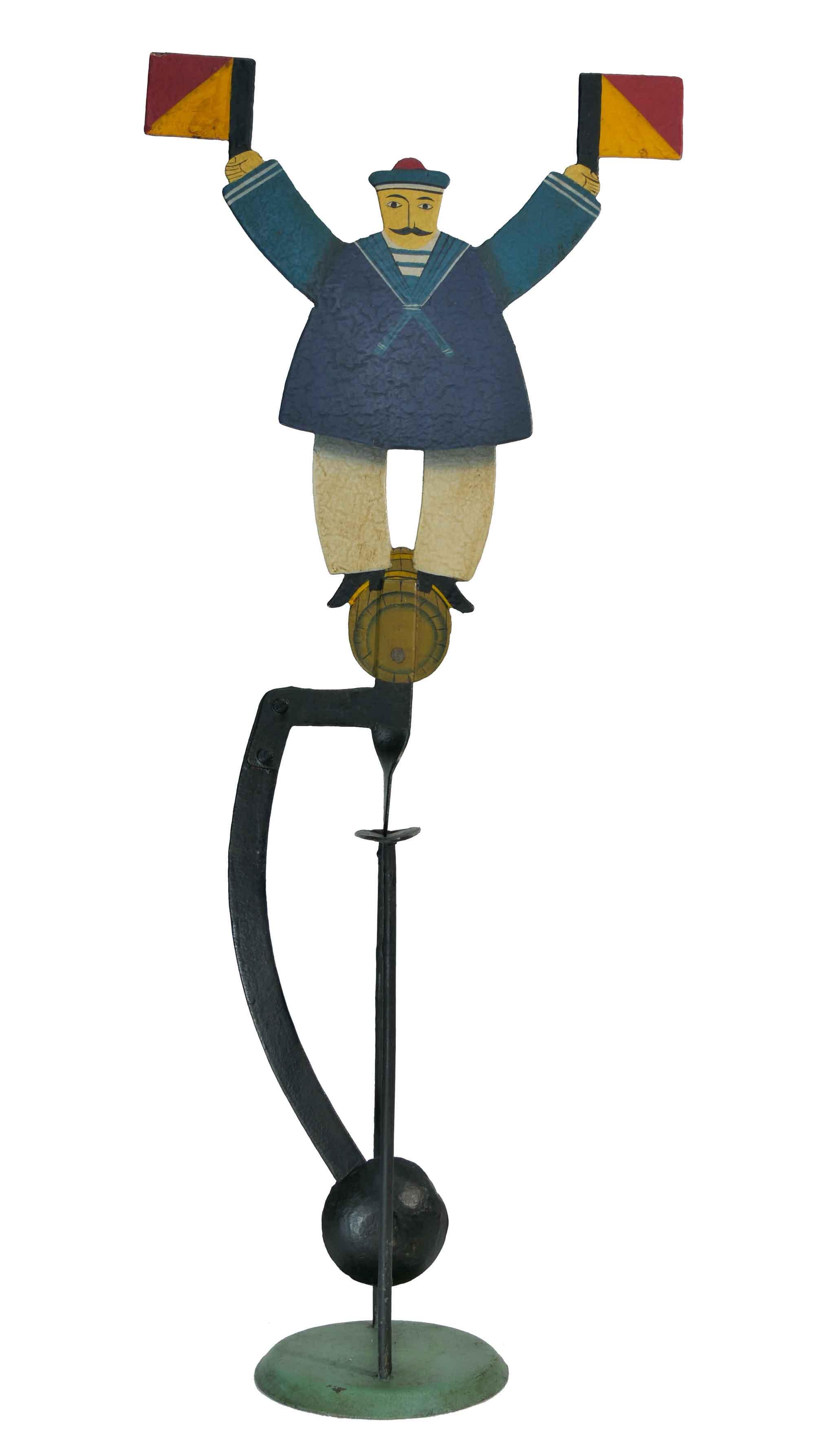 Balance Figur Matrose mit Fahnen