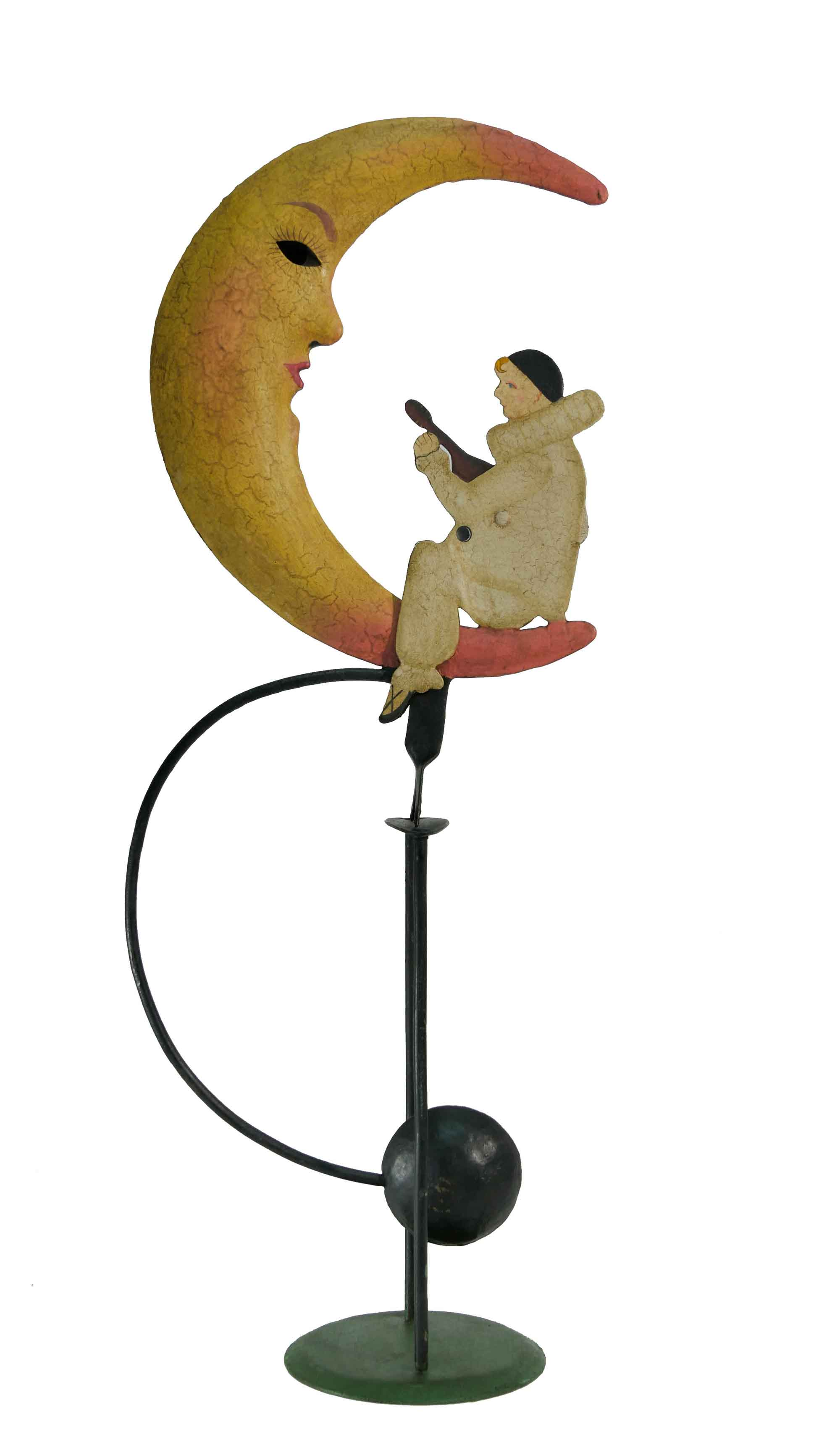Balance Figur Pierrot auf dem Mond