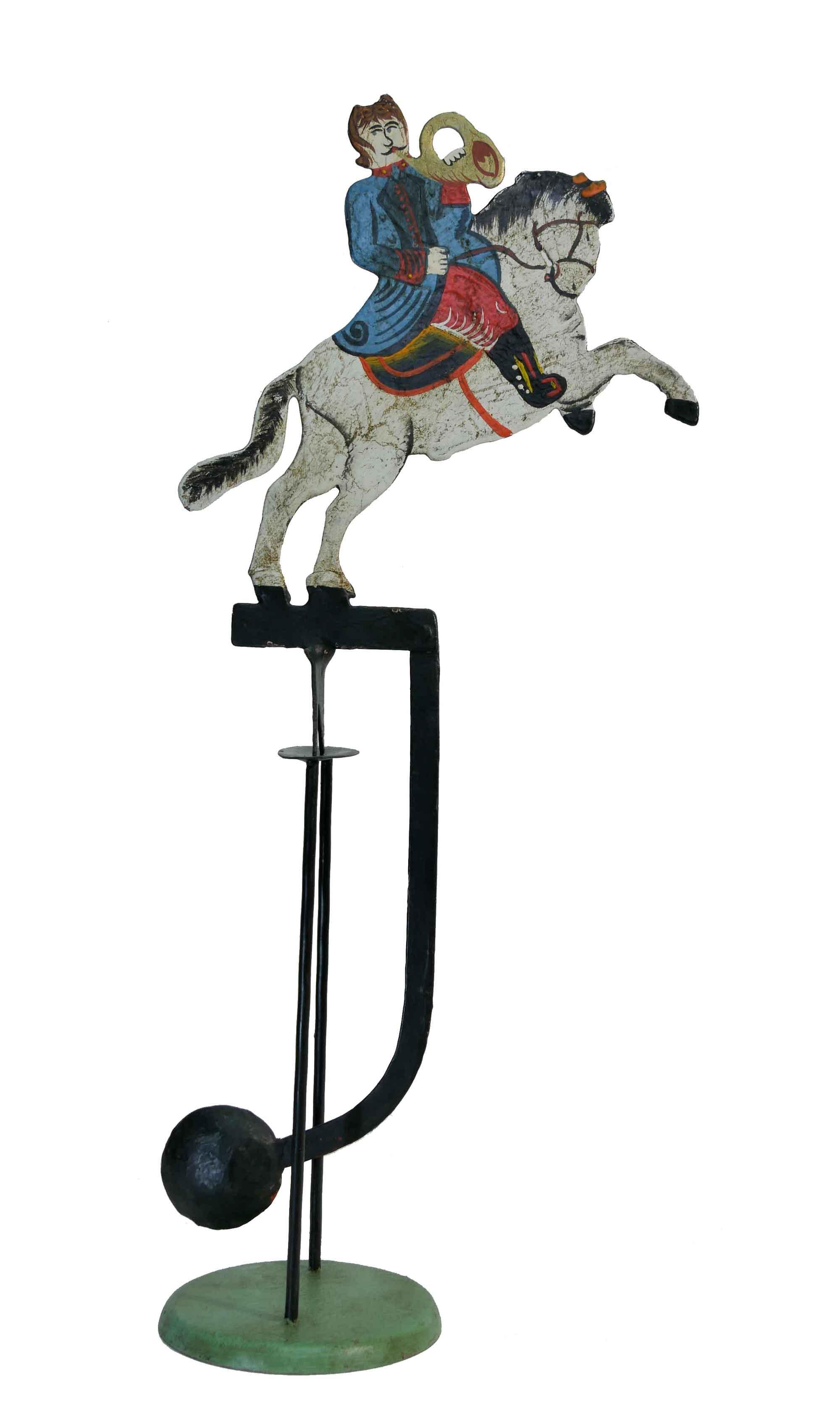 Pendelfigur Reiter mit Horn