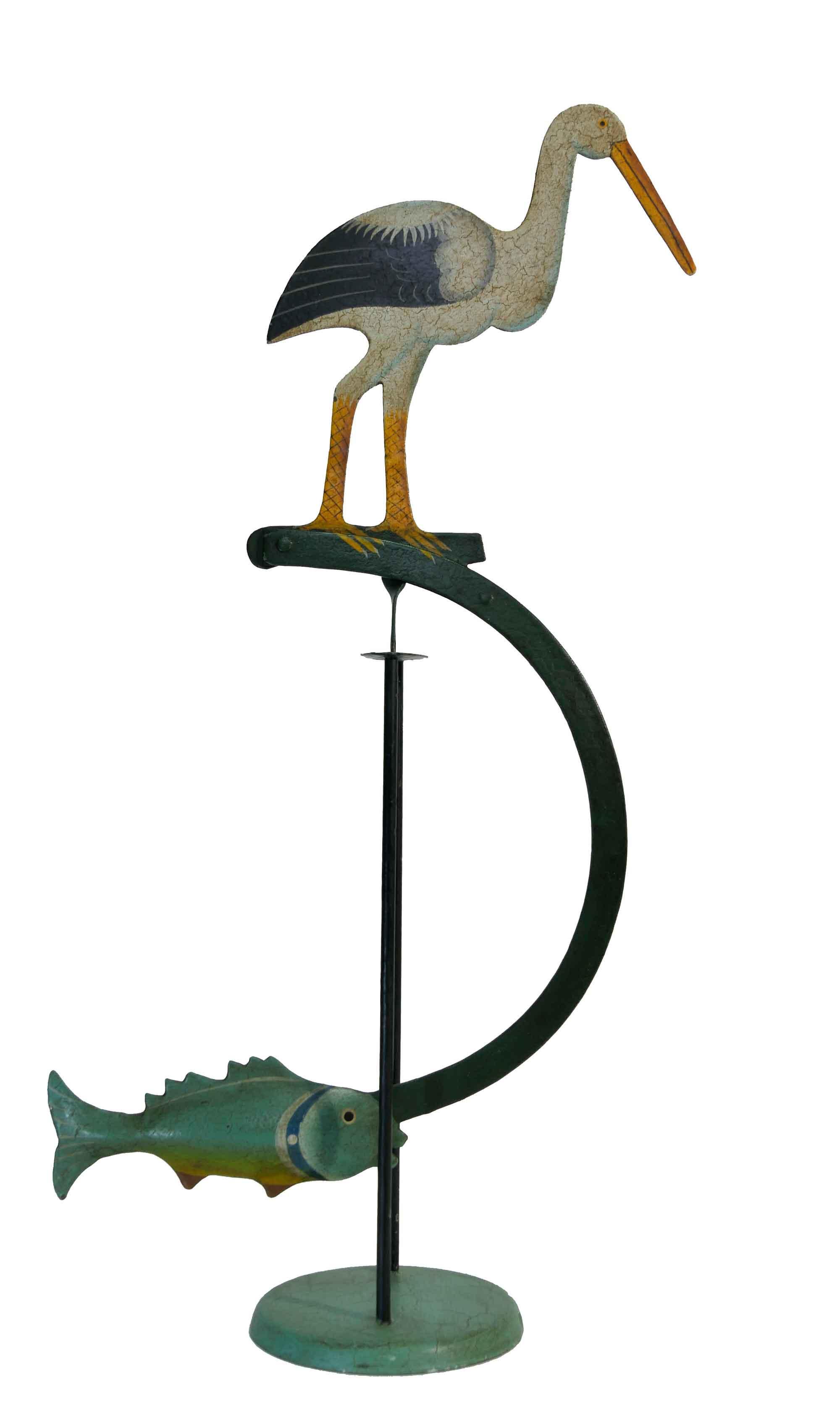 Balance Figur Storch und Fisch