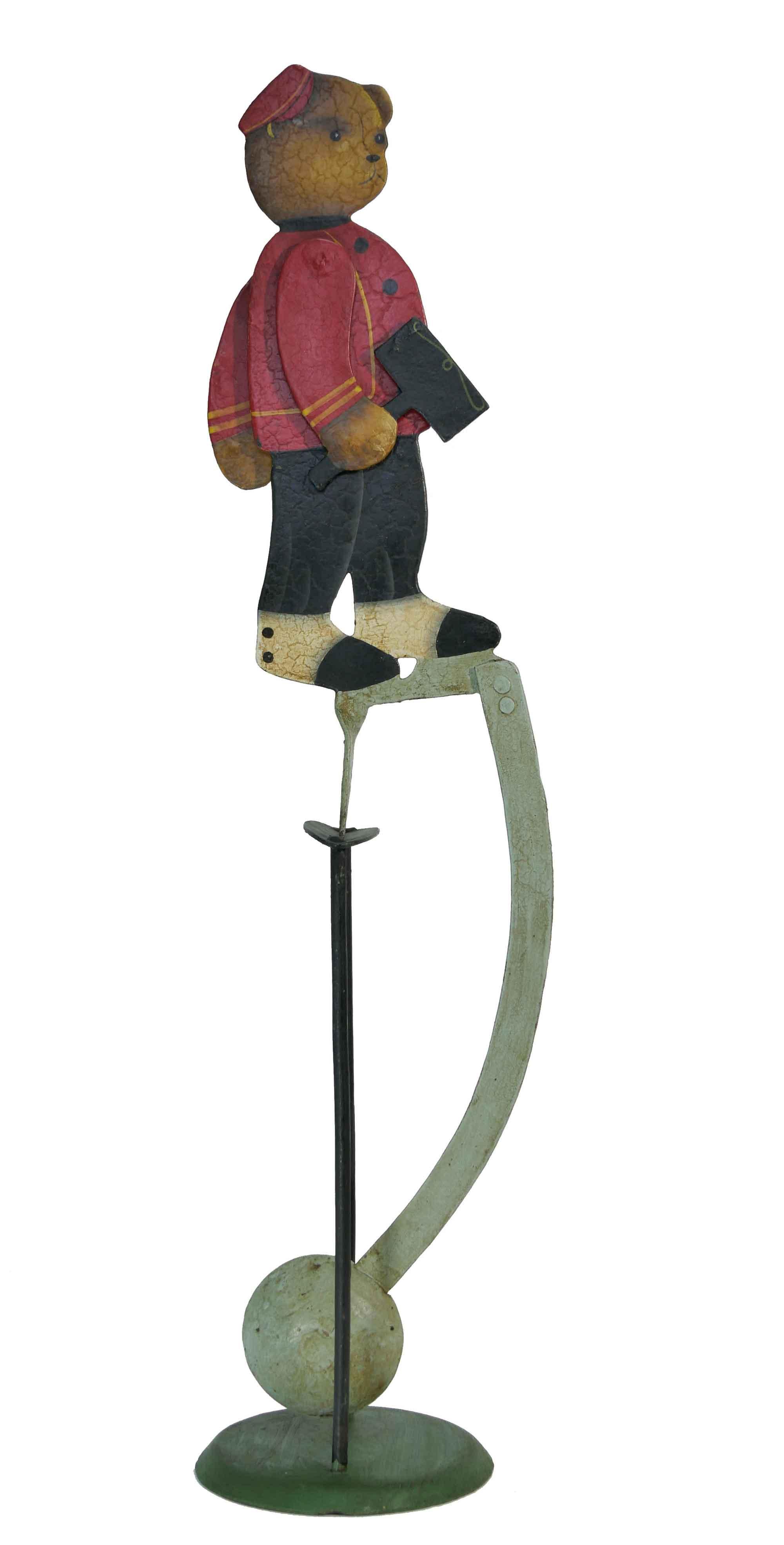 Balance Figur Teddybär Bahnvorsteher