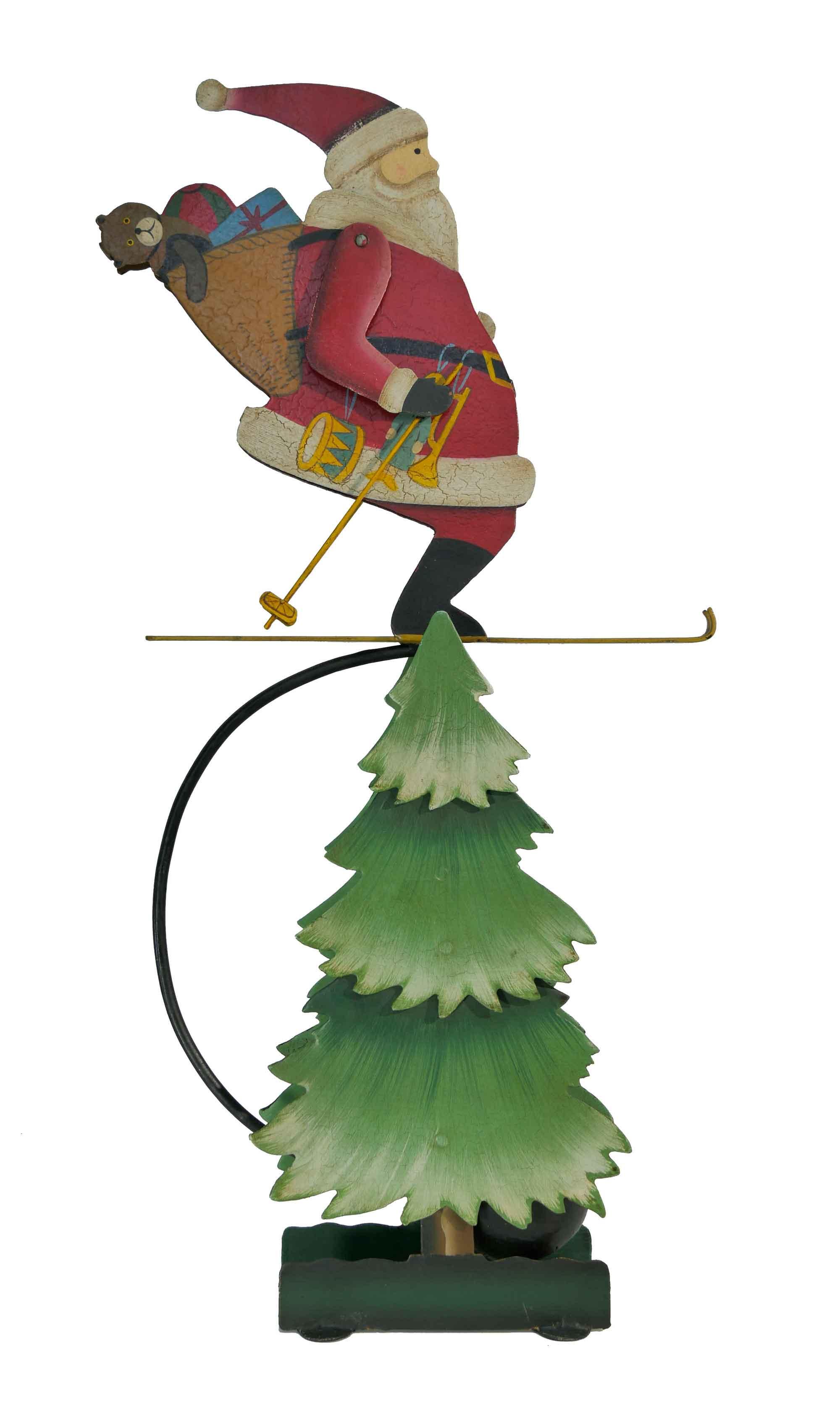 Balance Figur Weihnachtsmann auf Tannenbaum