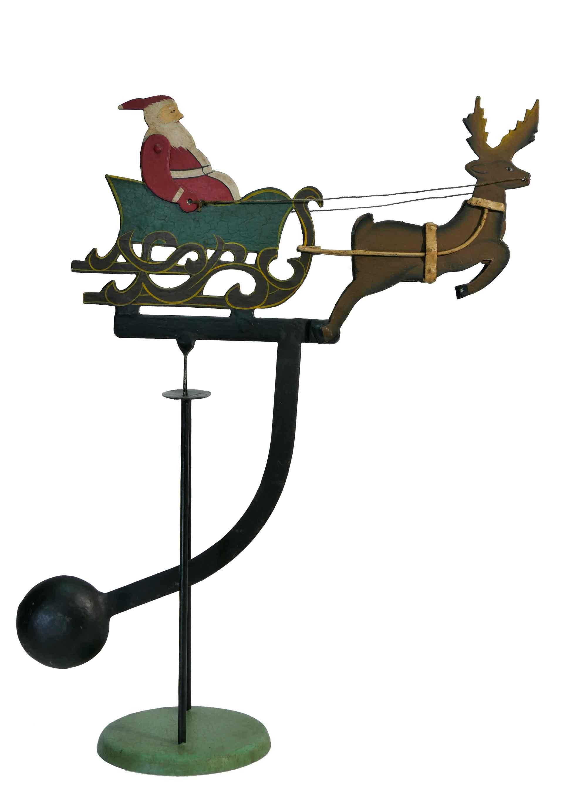 Balance Figur Weihnachtsmann mit Rentierschlitten