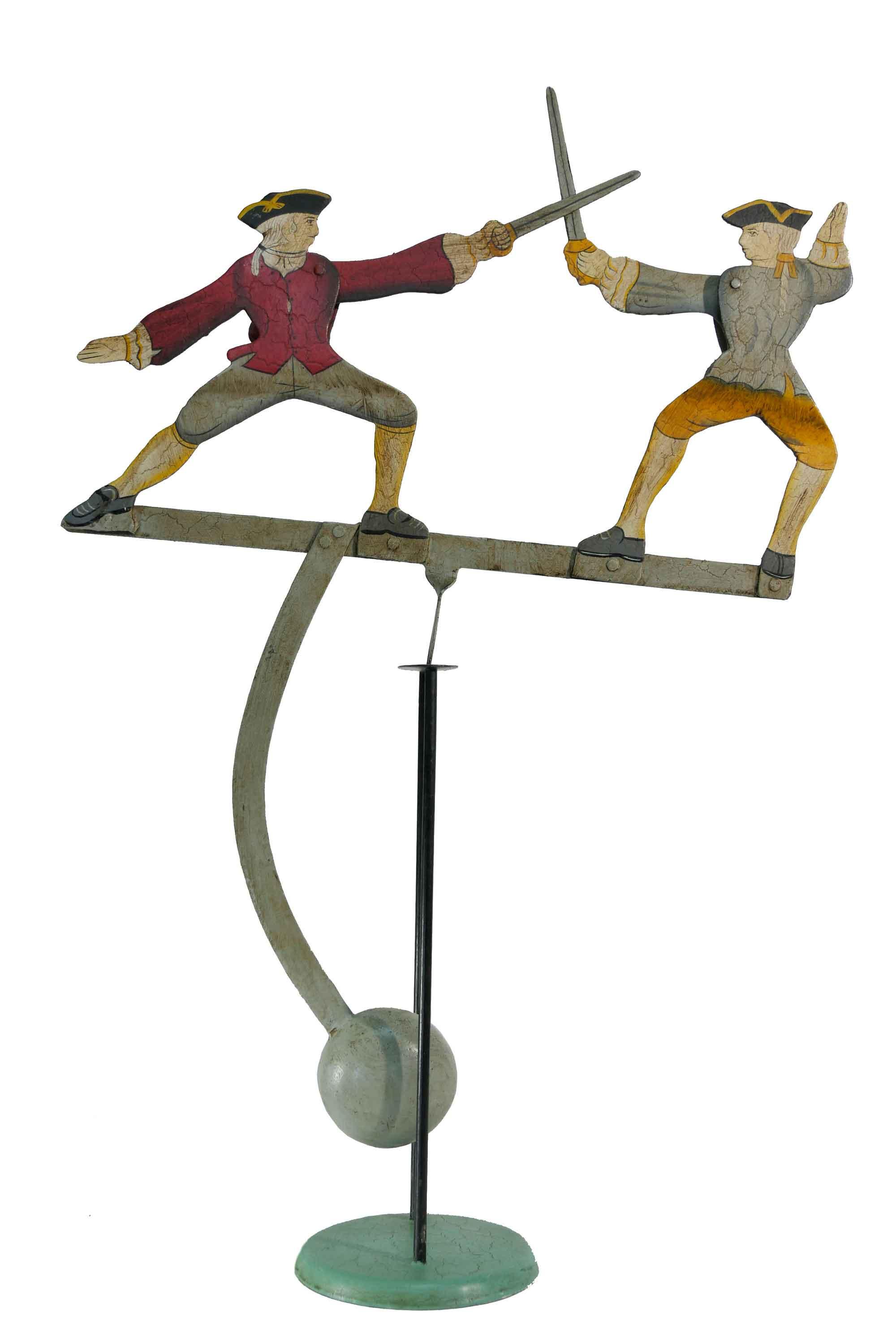 Balance Figur Zwei Fechter