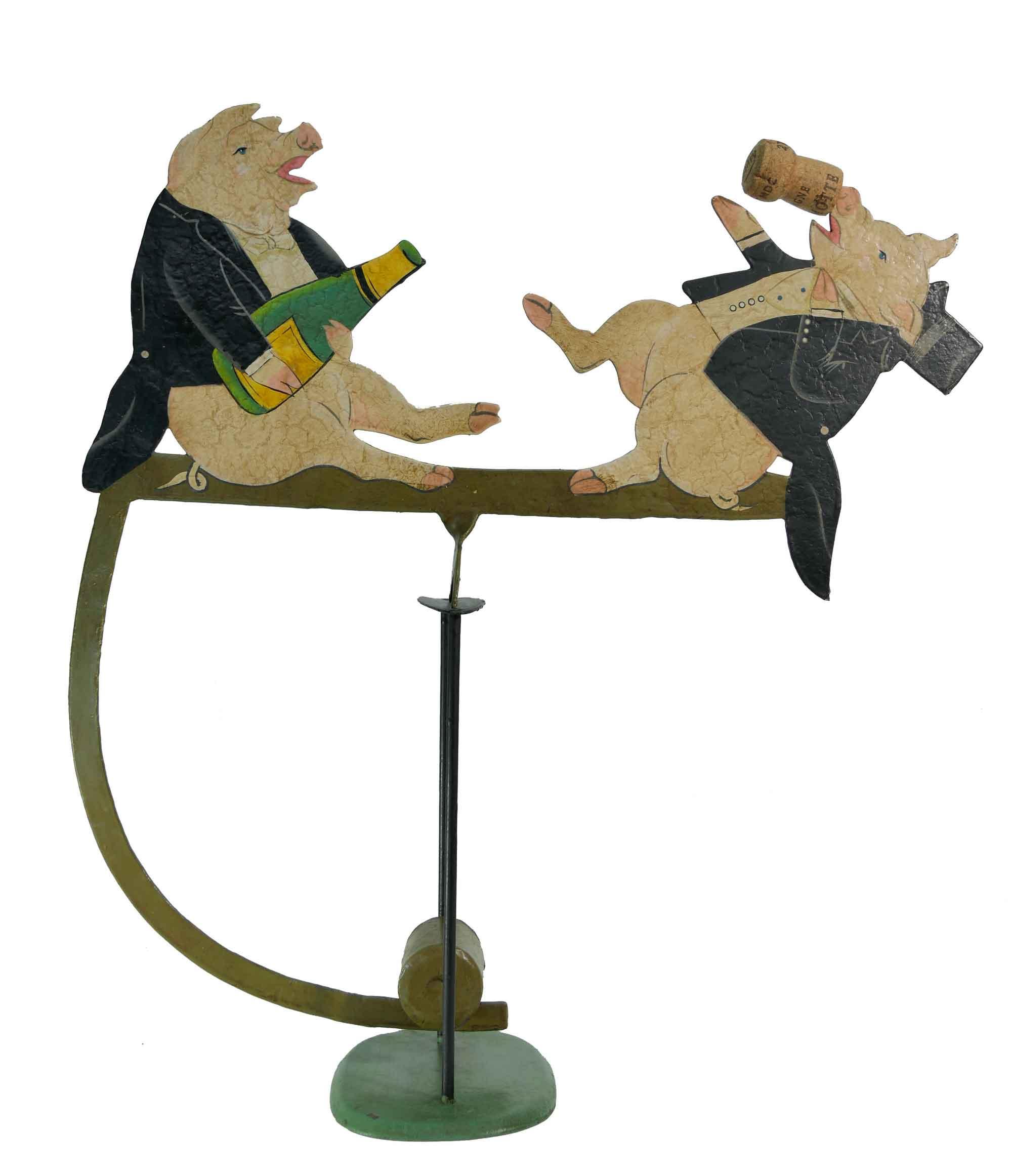 Balance Figur  Zwei lustige Schweine